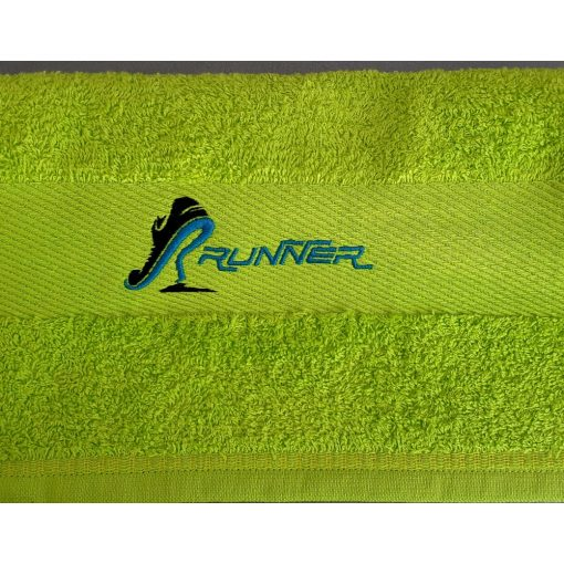 Hímzett törölköző runner