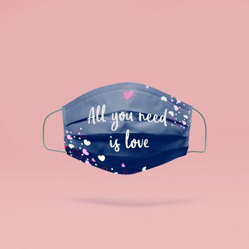 All you need is love mosható szájmaszk