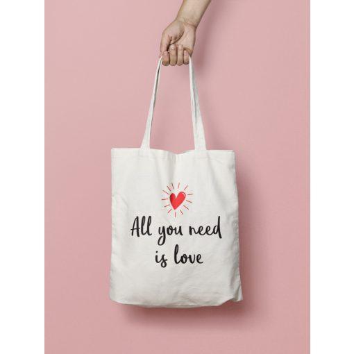 All you need is love vászontáska