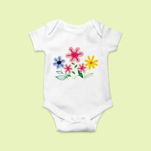 Virágszálak baby body